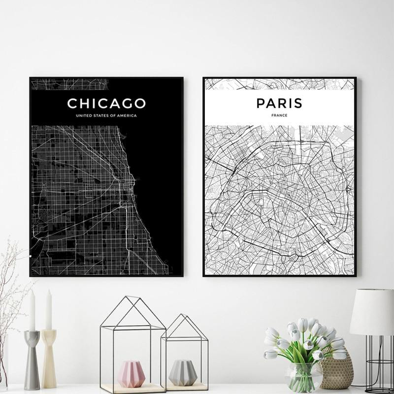 City Map Art Prints 2 from Gallery Wallrus | Eclectic Wall Art & Decor with Worldwide Shipping