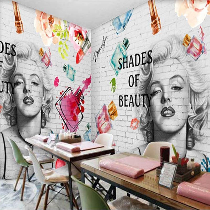 Abstract Marilyn Monroe Wall Mural from Gallery Wallrus | Eclectic Wall Art & Decor with Worldwide Shipping
