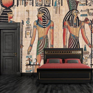 Abstract Classic Egyptian Oil Painting Wall Mural from Gallery Wallrus | Eclectic Wall Art & Decor with Worldwide Shipping