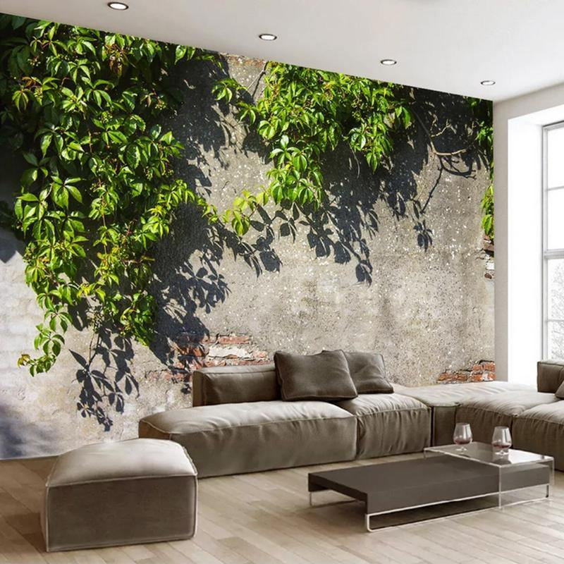 Hanging Tree Leaves Branches Wall Mural from Gallery Wallrus | Eclectic Wall Art & Decor with Worldwide Shipping