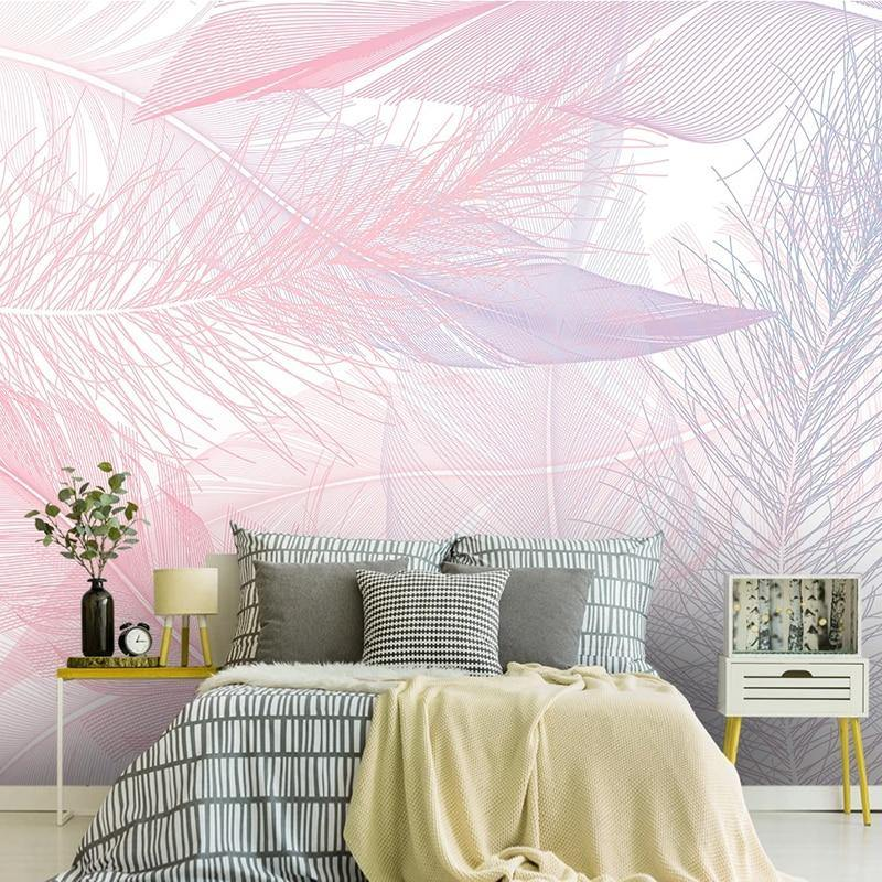 Dazzling Pink Calming Feather Wall Mural from Gallery Wallrus | Eclectic Wall Art & Decor with Worldwide Shipping