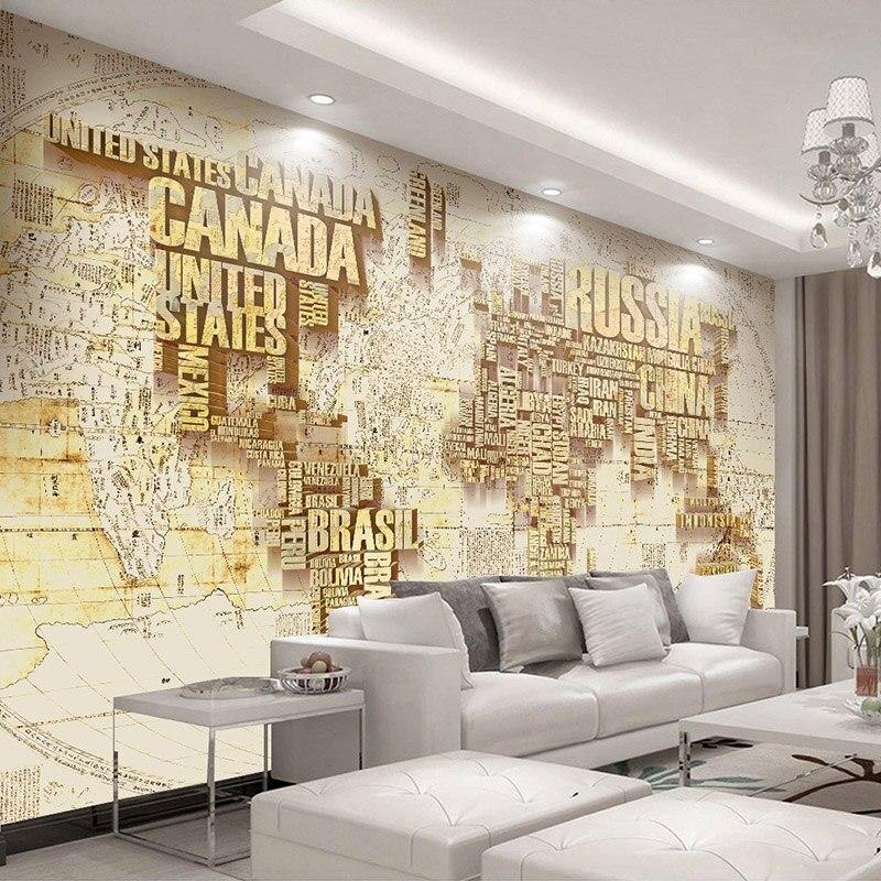 Big Countries World Map Waterproof Canvas Wall Mural from Gallery Wallrus | Eclectic Wall Art & Decor with Worldwide Shipping