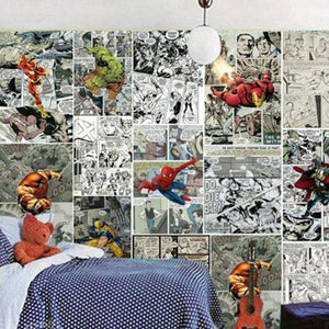 3D Comics Wall Mural from Gallery Wallrus | Eclectic Wall Art & Decor with Worldwide Shipping