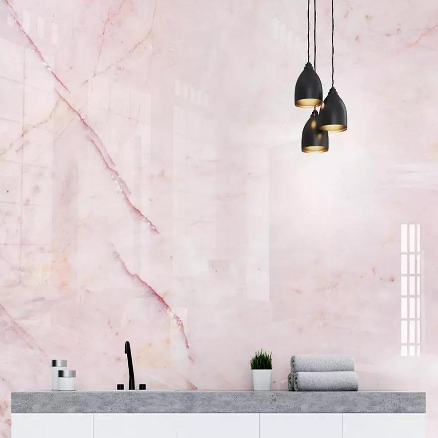 Light Pink Marble Wall Mural from Gallery Wallrus | Eclectic Wall Art & Decor with Worldwide Shipping