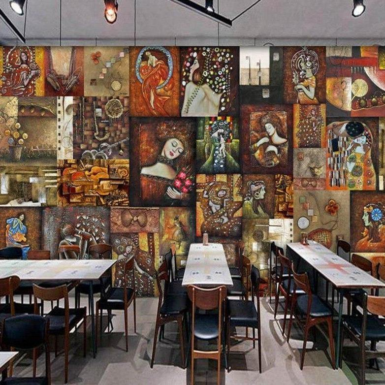 Famous Paintings Collage Wall Mural from Gallery Wallrus | Eclectic Wall Art & Decor with Worldwide Shipping