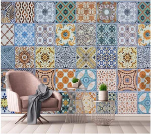 Large Mosaic Moroccan Tile Pattern Wall Mural from Gallery Wallrus | Eclectic Wall Art & Decor with Worldwide Shipping