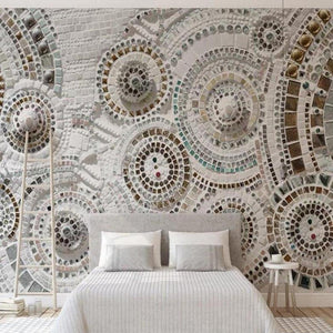 Modern Bohemian Circles Waterproof Wall Mural from Gallery Wallrus | Eclectic Wall Art & Decor with Worldwide Shipping