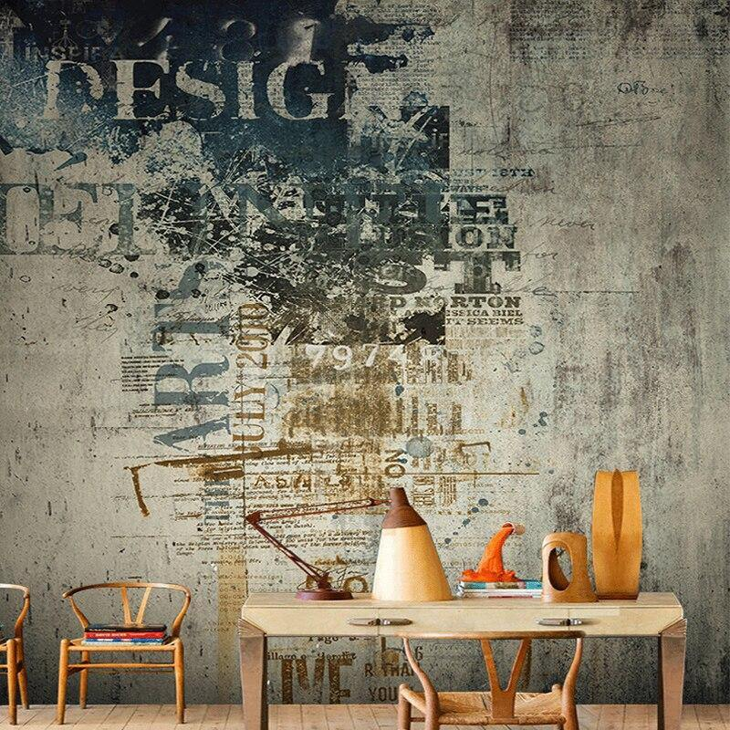 Retro Graffiti Dilapidated Non-Woven Wall Mural from Gallery Wallrus | Eclectic Wall Art & Decor with Worldwide Shipping