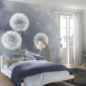 Dreamy Large Dandelions Wall Mural from Gallery Wallrus | Eclectic Wall Art & Decor with Worldwide Shipping