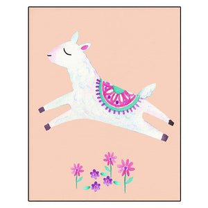 Cute Alpaca Llama Boho Wall Art for Children's Bedroom from Gallery Wallrus | Eclectic Wall Art & Decor with Worldwide Shipping