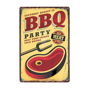 DAD'S BBQ Outdoor Metal Art Signs (Mix & Match) from Gallery Wallrus | Eclectic Wall Art & Decor with Worldwide Shipping