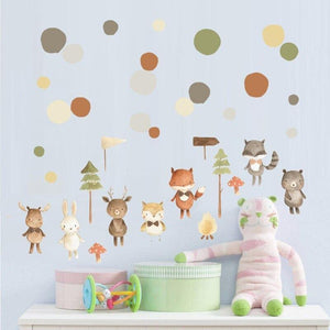 Lovely Fox Deer Rabbit Children Wall Stickers from Gallery Wallrus | Eclectic Wall Art & Decor with Worldwide Shipping