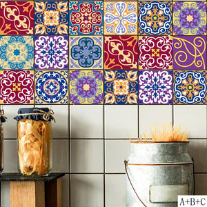 DIY Mosaic Wall Tiles Stickers 3D Kitchen Wall Sticker Bathroom Toilet Adhesive Waterproof PVC Wallpaper Waist Line 100 X 20cm from Gallery Wallrus | Eclectic Wall Art & Decor with Worldwide Shipping
