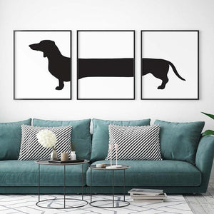 Cool Dachshund Dog Art Set Prints from Gallery Wallrus | Eclectic Wall Art & Decor with Worldwide Shipping