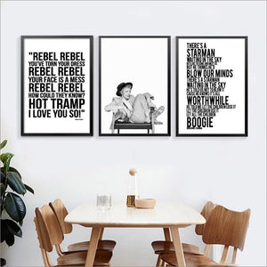 David Bowie Lyrics Gallery Wall Art Pictures from Gallery Wallrus | Eclectic Wall Art & Decor with Worldwide Shipping