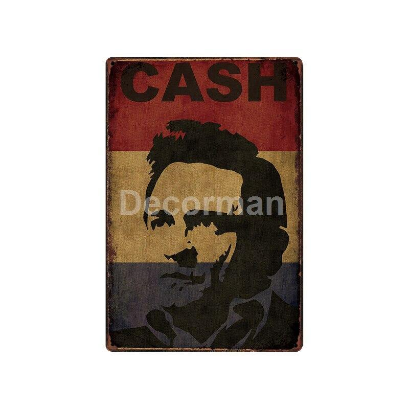 Johnny Cash Cool Vintage Metal Wall Signs from Gallery Wallrus | Eclectic Wall Art & Decor with Worldwide Shipping