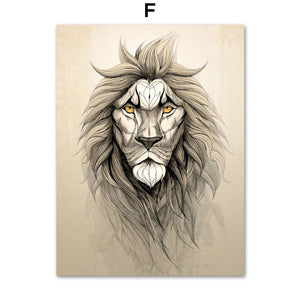 Deer Fox Bear Lion Raccoon Animal Artwork Gallery Wall Prints from Gallery Wallrus | Eclectic Wall Art & Decor with Worldwide Shipping