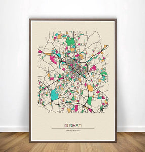 Colorful City Map Wall Art Prints: Dusseldorf, Edinburgh+ More from Gallery Wallrus | Eclectic Wall Art & Decor with Worldwide Shipping