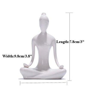 Porcelain Yoga Pose Figures from Gallery Wallrus | Eclectic Wall Art & Decor with Worldwide Shipping