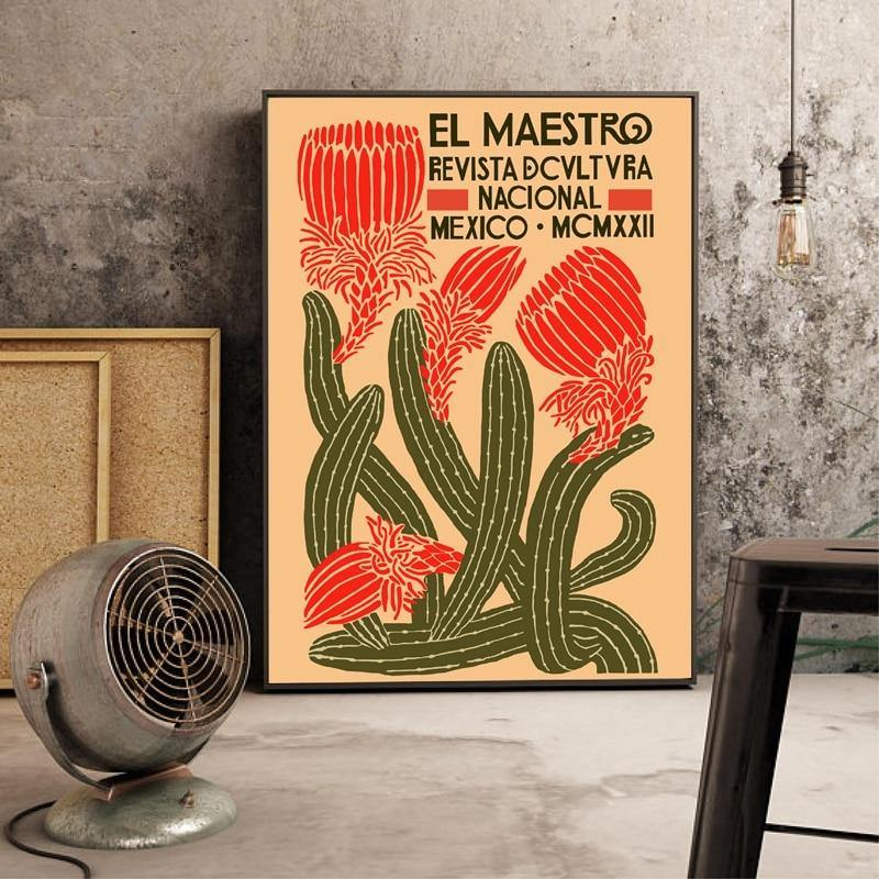 El Maestro Vintage Poster Print from Gallery Wallrus | Eclectic Wall Art & Decor with Worldwide Shipping