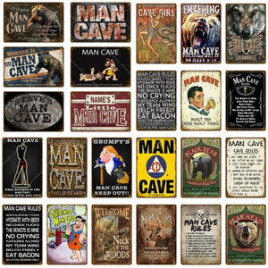 Funny Man Cave Door Signs (Range of Designs) from Gallery Wallrus | Eclectic Wall Art & Decor with Worldwide Shipping