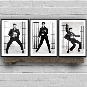Elvis Presley Jail House Rock Black & White Photography Gallery Wall Art Prints from Gallery Wallrus | Eclectic Wall Art & Decor with Worldwide Shipping