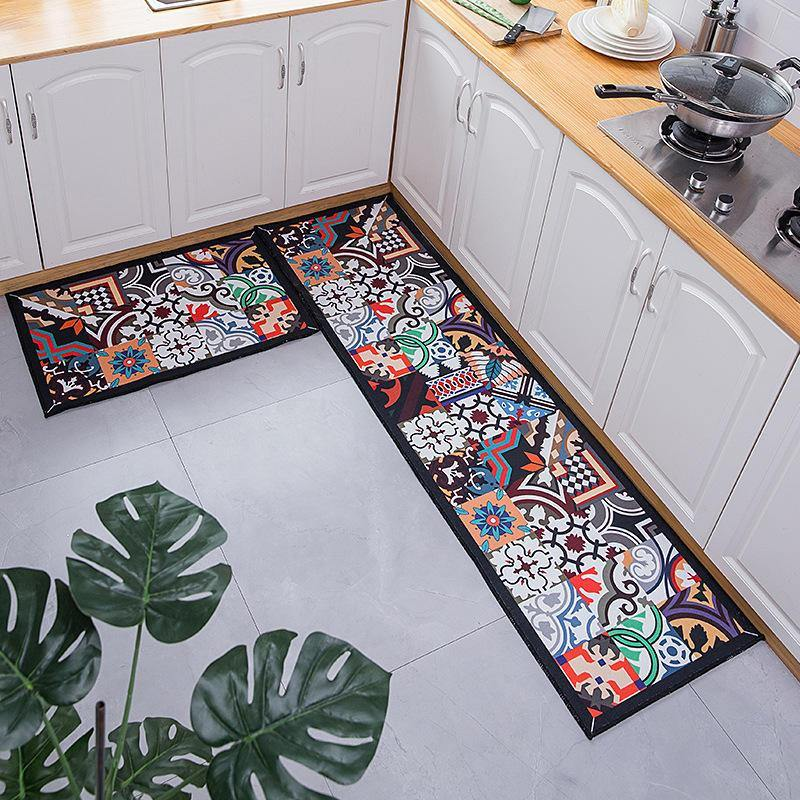 Ethnic Boho Patterned Long Kitchen, Bathroom & Hallway Mats from Gallery Wallrus | Eclectic Wall Art & Decor with Worldwide Shipping