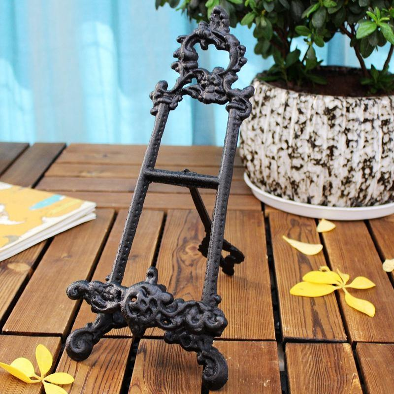 Black Antique Stand Holder from Gallery Wallrus | Eclectic Wall Art & Decor with Worldwide Shipping