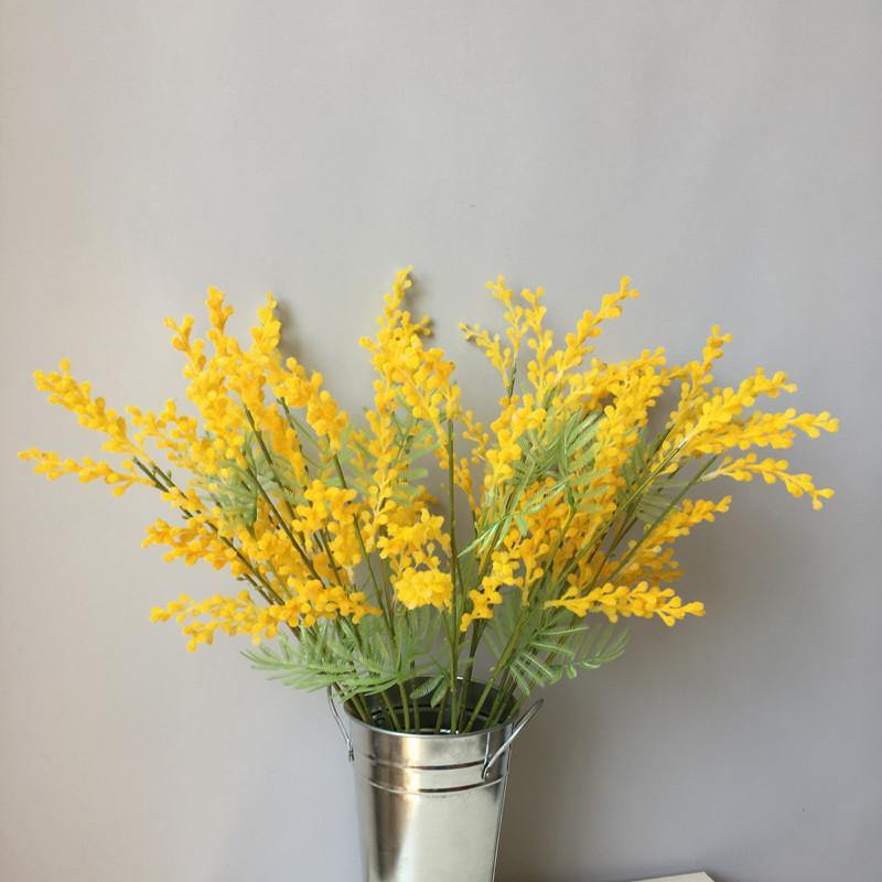 Artificial Yellow Acacia Bouquet Flowers from Gallery Wallrus | Eclectic Wall Art & Decor with Worldwide Shipping
