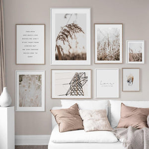 Fall Reed Flower Leaves Photography Art Prints Mix & Match from Gallery Wallrus | Eclectic Wall Art & Decor with Worldwide Shipping