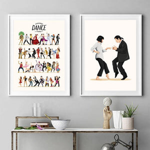 Fun Dance Movements Art Print from Gallery Wallrus | Eclectic Wall Art & Decor with Worldwide Shipping