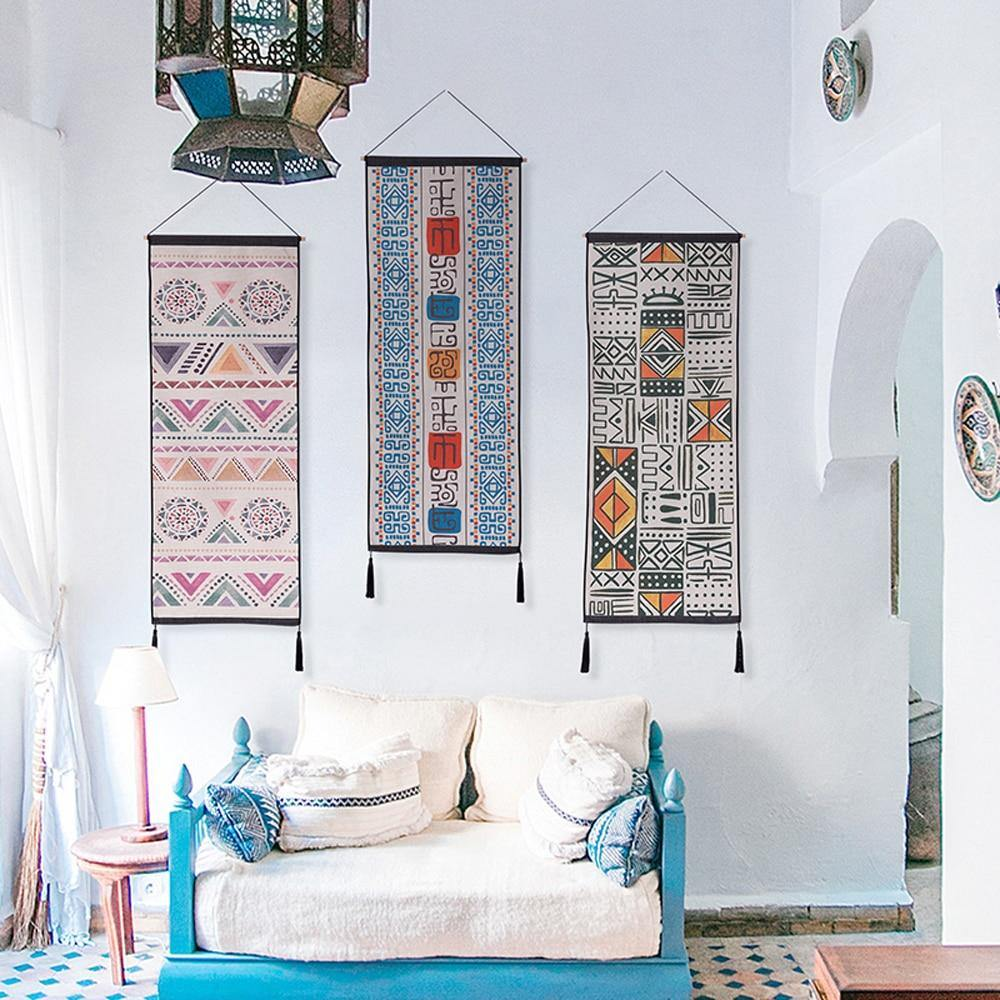 Moroccan Bohemian Patterned Wall Hangings from Gallery Wallrus | Eclectic Wall Art & Decor with Worldwide Shipping