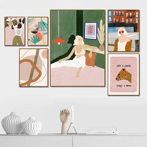 Boho Girl Illustration Gallery Art Paintings from Gallery Wallrus | Eclectic Wall Art & Decor with Worldwide Shipping