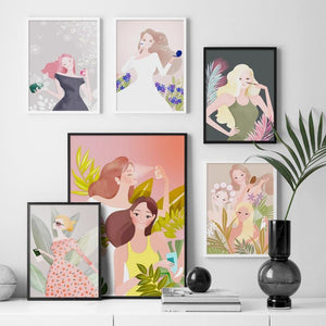 Cute Colorful Girl Paintings Gallery Wall Art Prints from Gallery Wallrus | Eclectic Wall Art & Decor with Worldwide Shipping