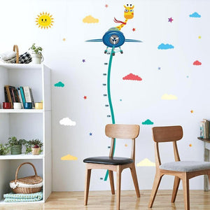 Height Growth Measure Flying Giraffe Wall Stickers from Gallery Wallrus | Eclectic Wall Art & Decor with Worldwide Shipping