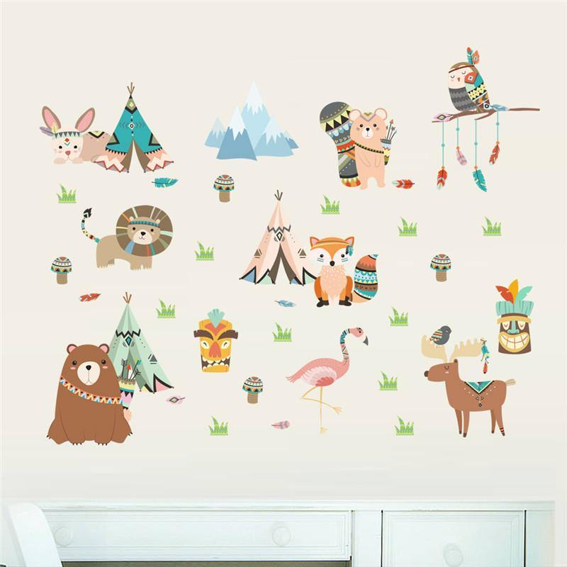Lion Monkey Rabbit Owl Bird Height Measure Wall Sticker from Gallery Wallrus | Eclectic Wall Art & Decor with Worldwide Shipping