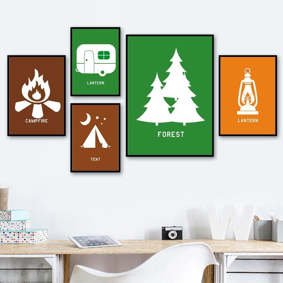 Retro Camping Gallery Wall Art Prints from Gallery Wallrus | Eclectic Wall Art & Decor with Worldwide Shipping