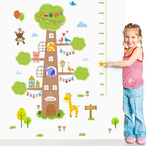 Forest House Tree Animals Height Growth Chart Wall Stickers from Gallery Wallrus | Eclectic Wall Art & Decor with Worldwide Shipping