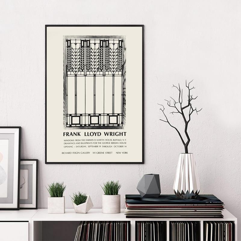 Minimalist Frank Lloyd Wright Artwork from Gallery Wallrus | Eclectic Wall Art & Decor with Worldwide Shipping