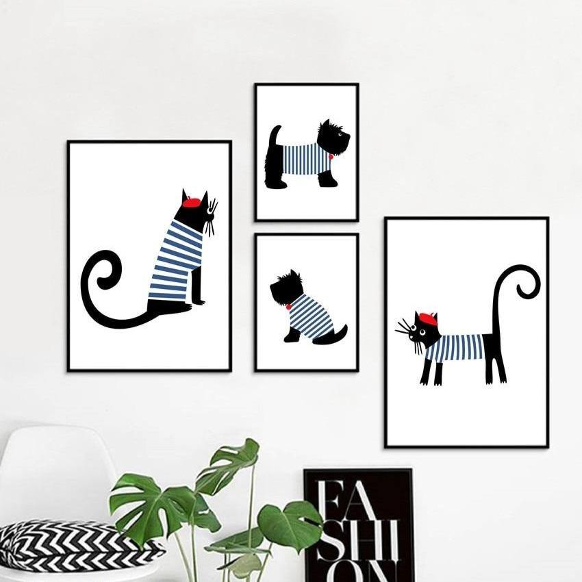 Scottish Parisian Dachshund & Cat Art Pictures from Gallery Wallrus | Eclectic Wall Art & Decor with Worldwide Shipping