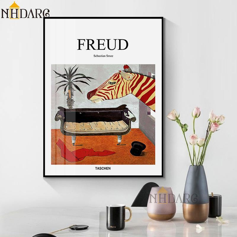Freud Psychoanalyst Sofa Still Life Posters and Prints Canvas Art Painting Wall Picture for Living Room Hallway Clinic Decor from Gallery Wallrus | Eclectic Wall Art & Decor with Worldwide Shipping