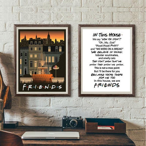 F.R.I.E.N.D.S TV Show Art Print Collection from Gallery Wallrus | Eclectic Wall Art & Decor with Worldwide Shipping