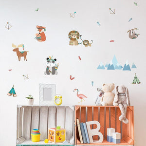 Indian Boho Fairy Tales Animals Wall Stickers from Gallery Wallrus | Eclectic Wall Art & Decor with Worldwide Shipping
