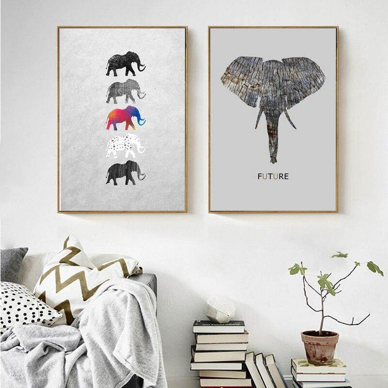 Future Elephants Abstract Paintings from Gallery Wallrus | Eclectic Wall Art & Decor with Worldwide Shipping