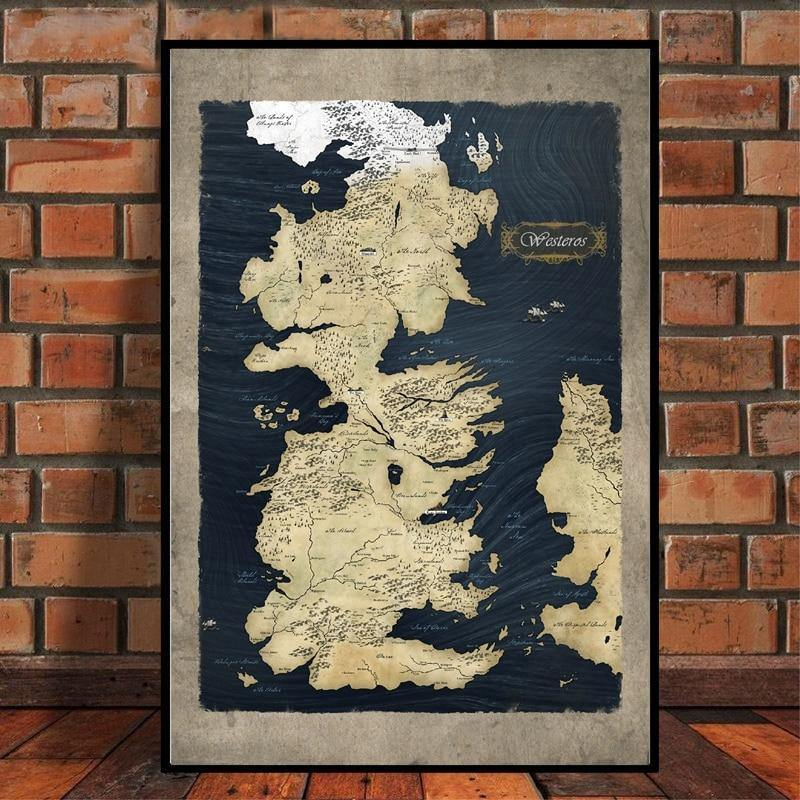 Game of Thrones Map of Westeros Art Prints from Gallery Wallrus | Eclectic Wall Art & Decor with Worldwide Shipping