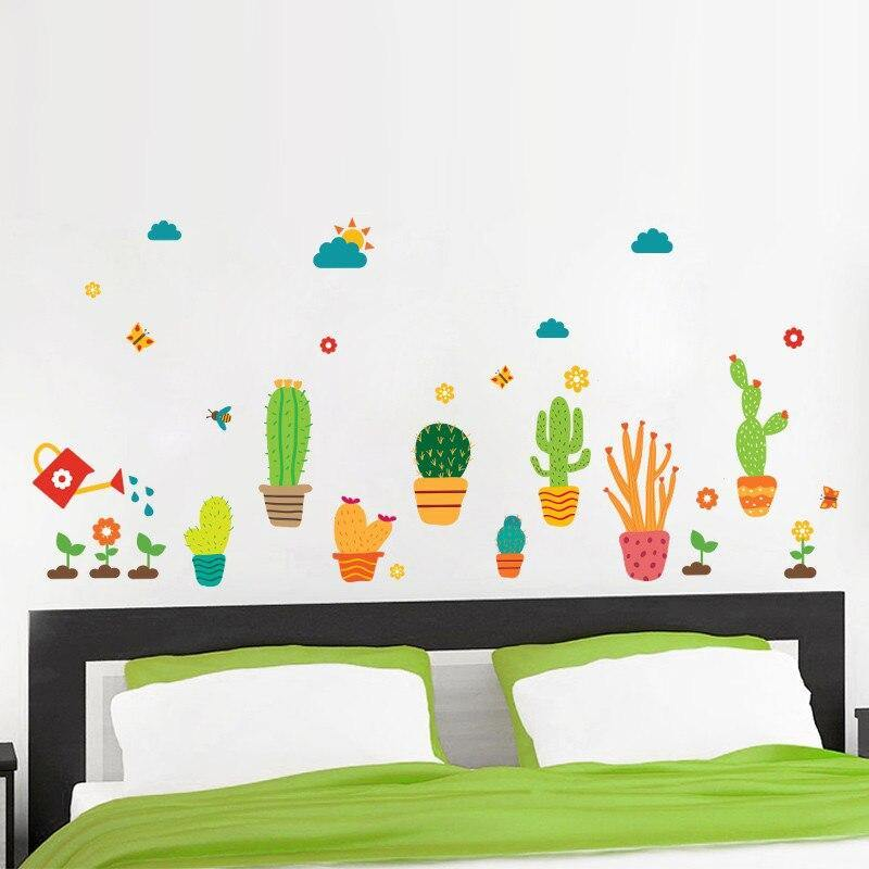 Kids Garden Flowers Cactus Wall Stickers from Gallery Wallrus | Eclectic Wall Art & Decor with Worldwide Shipping