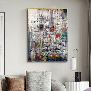 Industrial Abstract by Gerhard Richter Artwork from Gallery Wallrus | Eclectic Wall Art & Decor with Worldwide Shipping