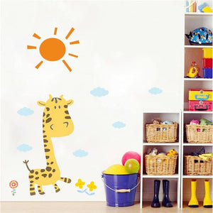 Baby Yellow Giraffe Sun Kids Room Wall Stickers from Gallery Wallrus | Eclectic Wall Art & Decor with Worldwide Shipping