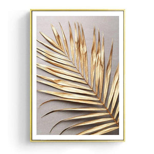 Gold Palm Leaf Poster Gallery Wall Art Prints from Gallery Wallrus | Eclectic Wall Art & Decor with Worldwide Shipping