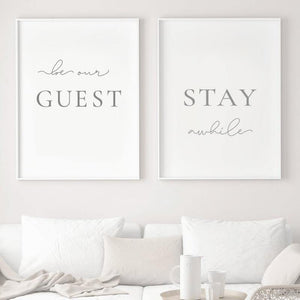 Minimalist Welcome Words Wall Art Duo from Gallery Wallrus | Eclectic Wall Art & Decor with Worldwide Shipping